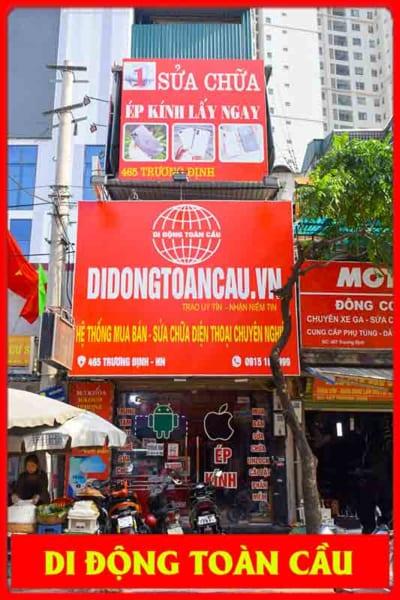 Cửa hàng sửa chữa điện thoại tại  Trương Định Hoàng Mai Hà Nội