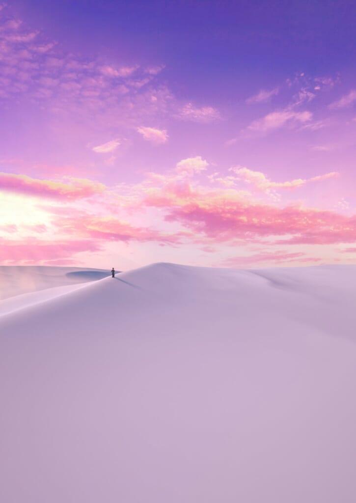 DUNESCAPE desert wallpaper for iPhone jstngraphics idownloadblog day pink