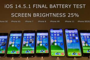 """Kiểm tra khả năng """"đốt"""" pin của iOS 14.5.1 trên một loạt iPhone đời cũ"""