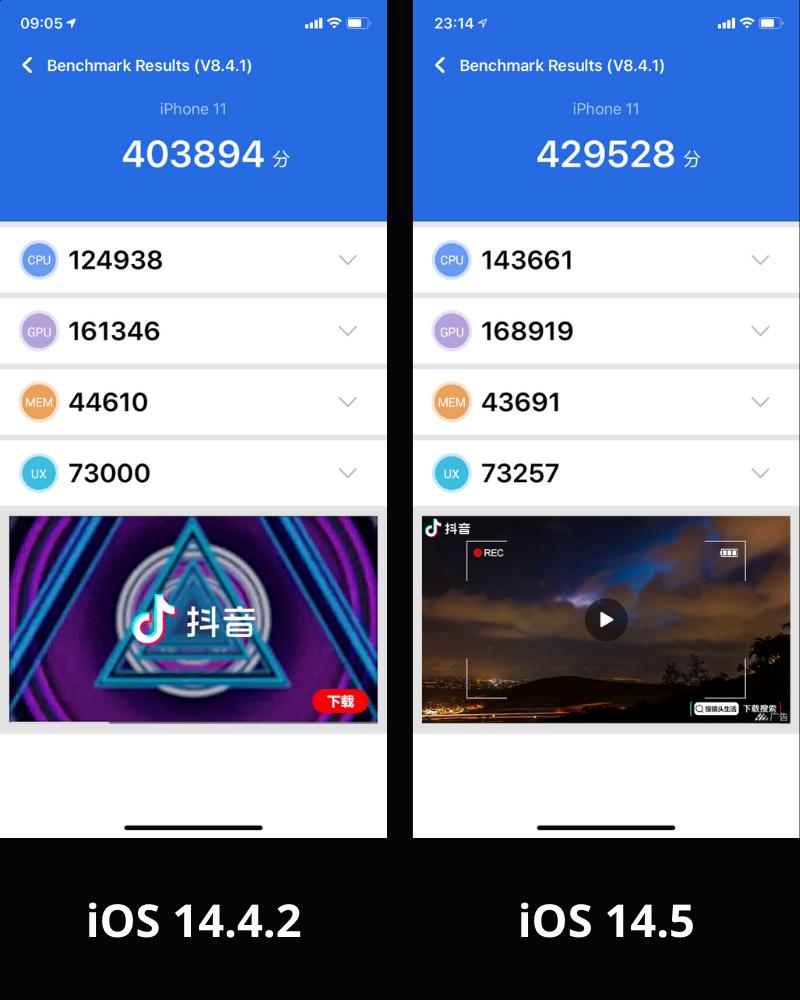 antutu iphone 11 ios 14 4 2 vs ios 14