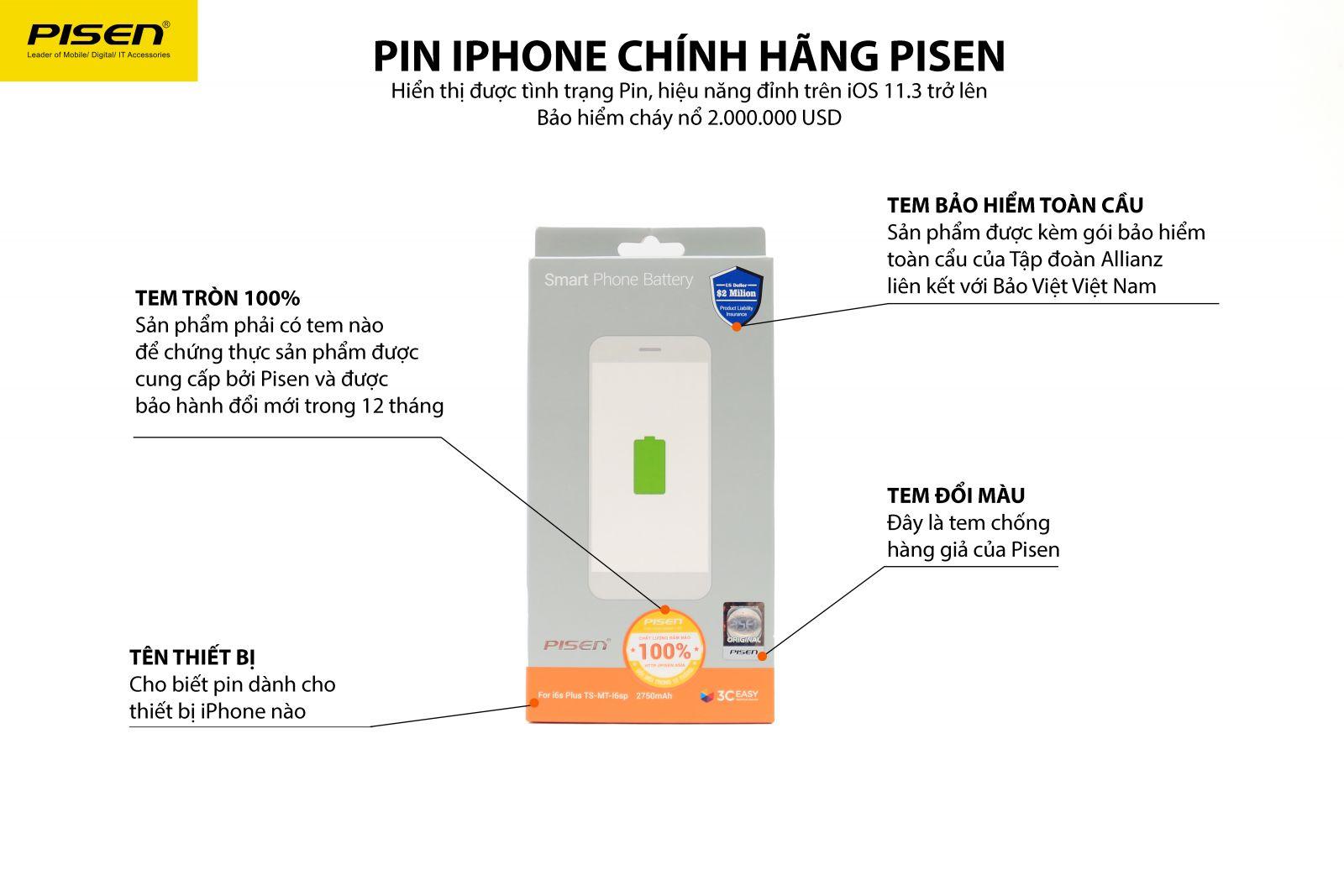 Nhận diện Pin Pisen chính hãng