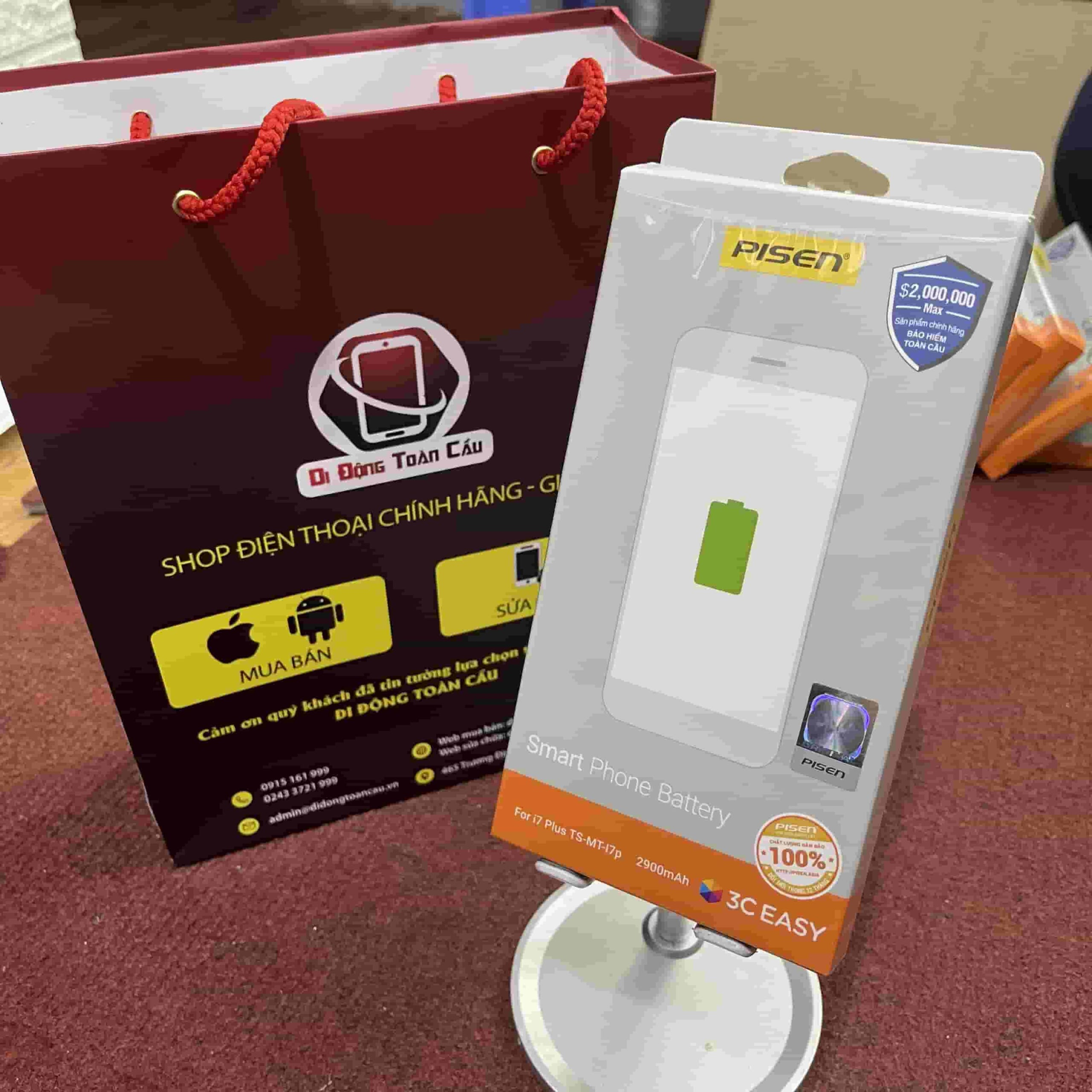 Thay pin Pisen iPhone 7 Plus dung lượng chuẩn
