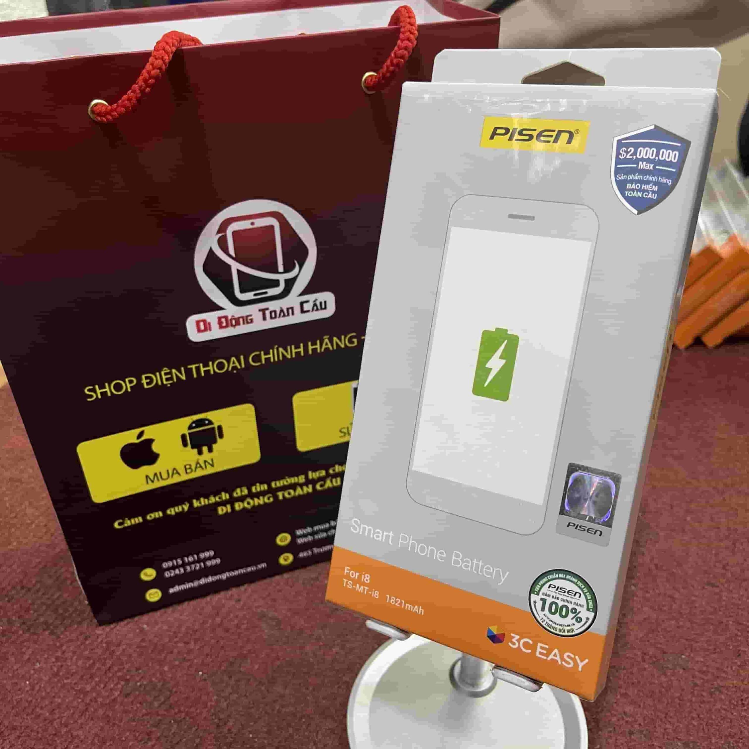 Thay pin Pisen iPhone 8 dung lượng chuẩn