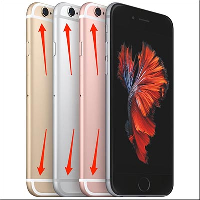 Vỏ iPhone có vạch trắng